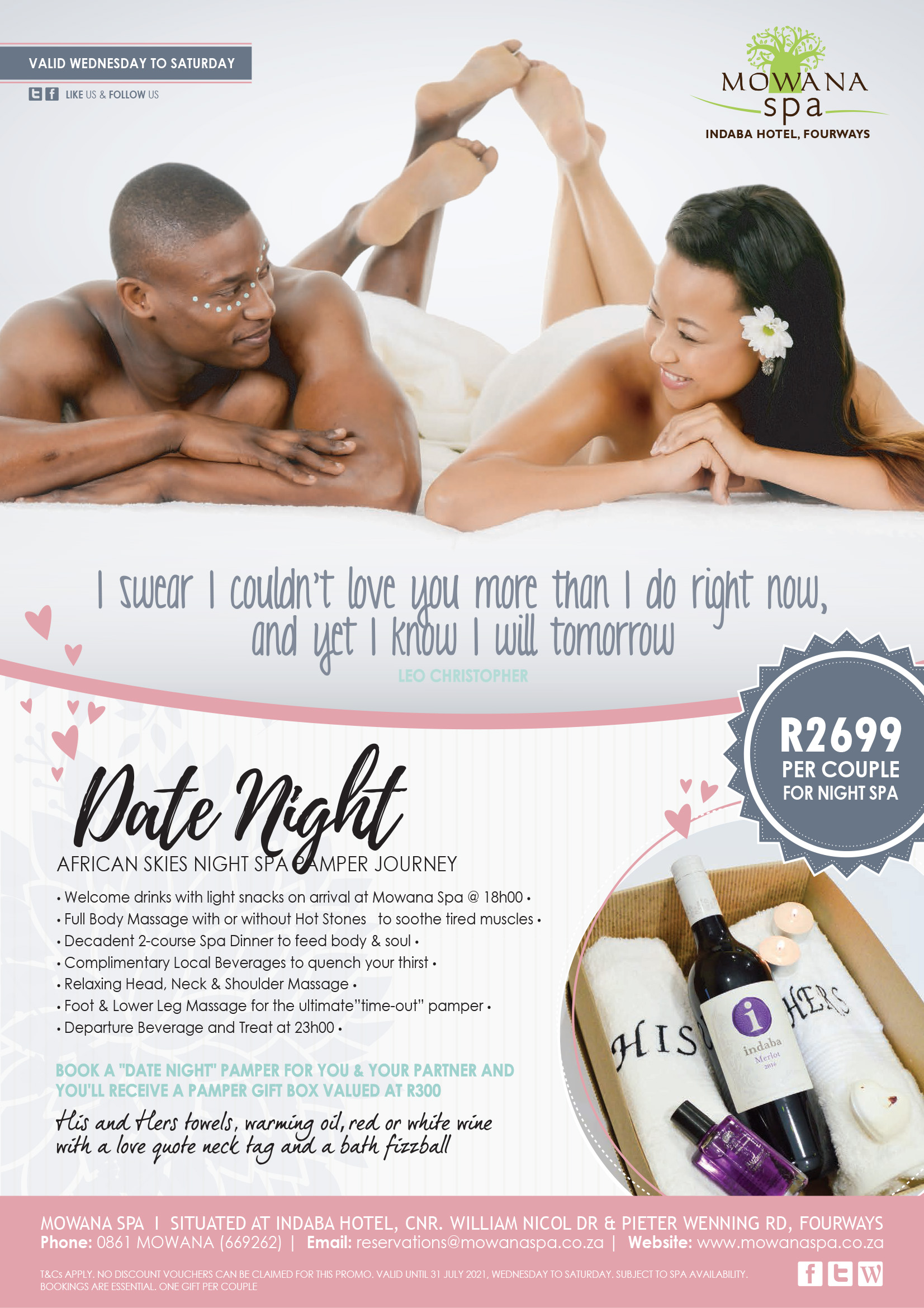 Date Night Spa Pamper